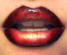 Liquid Gold Lips kiss, color, lip art, candi, makeup, candy apples, red lips, lipstick, the holiday