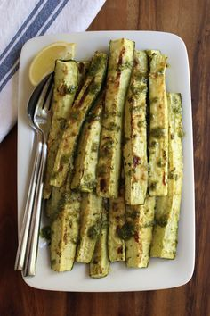 Roasted Zucchini - omit the cheese for #paleo