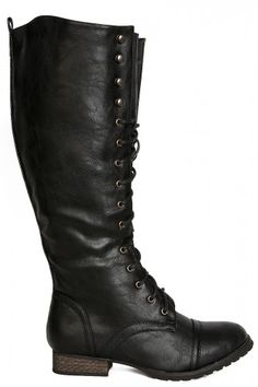 Trenton Tall Lace Up Boot