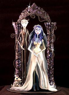 Corpse Bride Wedding Cake Topper Tim Burton by DiamondCakes, $249.00