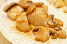 Reckless Abandon: Sea Scallops with White Wine Mushroom Sauce