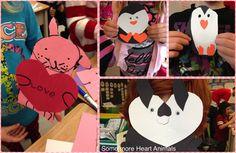Valentine Heart Animals- Valentine's Craft!