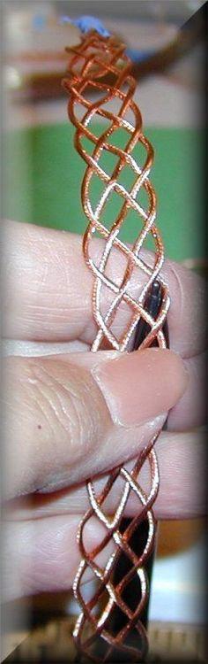 Braided wire Bracelet tutorial  ********************************************  Bajabum - #braided #wire #bracelet #jewelry #crafts #DIY - tå√