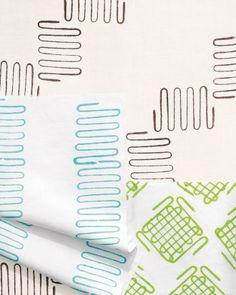 use a potato masher to print onto fabric!