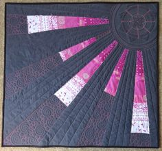 Sunshine with swirls, circles n straight lines by Elven Garden Quilts