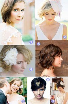 Coiffures pour mariées aux cheveux courts