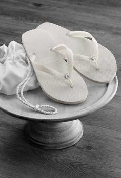 Swarovski Rhinestone Wedding Flip Flops