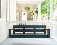#DIY Porch Swing by Ace Blogger, @yellowbrickhome