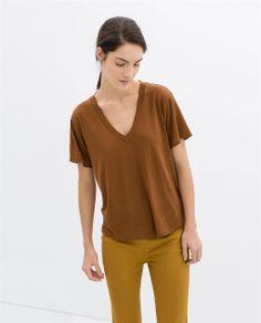 V-NECK T-SHIRT from Zara