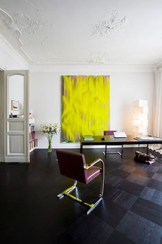 those floors; that painting / landscape architect guido hager's berlin apartment, interior by helenio barbetta.