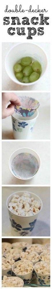 MOM Tip: Double Decker Snack Cups #247moms