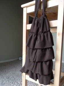 Drawstring ruffle bag