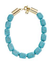 Michael Kors Turquoise Oversized Bead Necklace $275