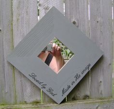 Made in His Image Christian/Inspirational Mirror Wall Hanging by ifrogcrafts