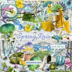 A beautiful rainy day scrapbook collection from Raspberry Road.