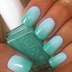 Minty Ombre #Nails #manicure #nailart #naildesign #nailpolish