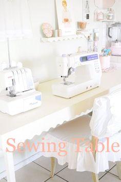 Perfect vintage sewing room!