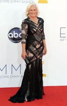 Glenn Close arrives at the 64th Primetime Emmy Awards. #TV #Emmys
