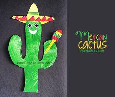 Fun Cinco de Mayo craft ~ free printable! LearnCreateLove.com