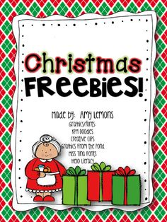 Step into 2nd Grade with Mrs. Lemons: Christmas Freebies!