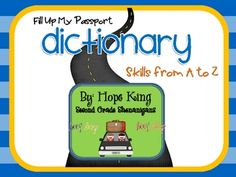 Fill Up My Passport: Dictionary Skills from A-Z   # Pinterest++ for iPad #
