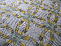 beauty doubl, metro ring, machin quilt, ring quilt, colors, longarm quilt, wedding rings, quilt idea, sew kind