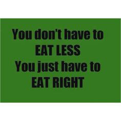 The key to a healthy lifestyle!