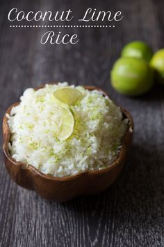You must try this coconut lime rice! Every bite is packed with coconut and lime goodness.