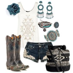 Love the shorts but I think you could do something like that with jeans! Perfect for New Mexico.