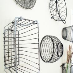 This vintage inspired basket gallery is an easy way to fill empty space and will add texture and character to any room.