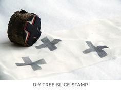 DIY tree slice stamps