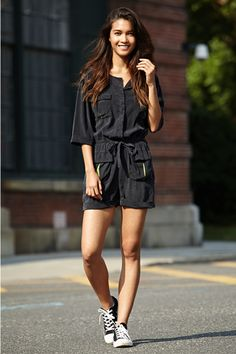 Black #Converse #Chucks Chuck Taylor high-tops; #tennis shoes; #trainers; #sneakers