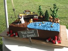 Hilarious and perfect for Matt (even looks like his truck): Hunting themed groom's cake