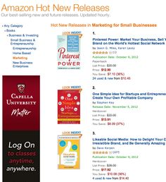 Pinterest Power #1 on Amazon for 'Hot New Releases' In Marketing Books