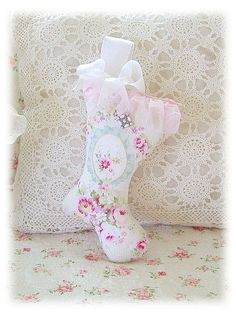 Christmas Stocking Decorations by Shabby Roses Boutique