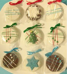 Chocolate Covered Holiday Oreos