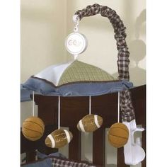 cocalo sports fan musical mobile geenny baby shower crib nursery sets baby boy hamper. Black Bedroom Furniture Sets. Home Design Ideas