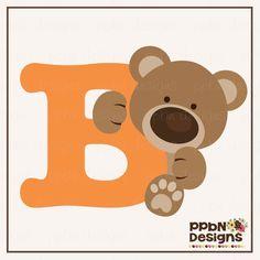 PPbN Designs - Letter B Bear, $0.50 (http://www.ppbndesigns.com/letter-b-bear/)