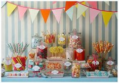 dessert tables, candy buffet, sweet tables, candy stations, candi, food stations, colorful candy, dessert bars, parti
