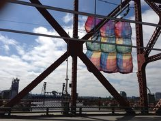 Blankets have started going up on the Broadway Bridge
