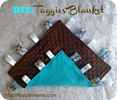 Taggies Baby Blanket Sewing Tutorial from @Huppie Mama