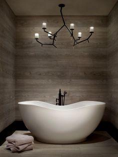 Vrijstaand design bad