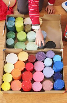 Coloured cans