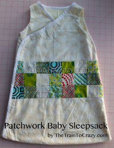 Patchwork baby sleeping bag