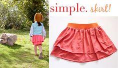 EASY diy layered skirt.