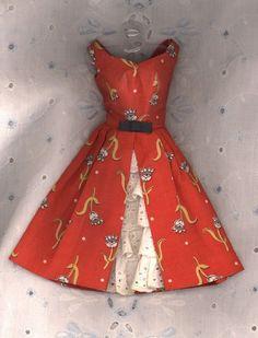 Vintage Barbie Fashion   Garden Tea Party   dress 1606