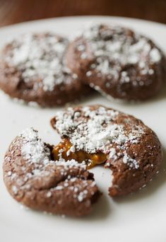 As far as decadent Holiday cookies go this recipe ranks pretty far up there in the decadence and the deliciousness! I am a big fan of salted caramel and combining it inside of a cookie sounded too good to be true.  The cookie's name makes it sound more complicated than it is and the recipe is
