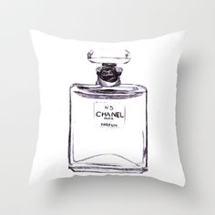 Chanel No 5 Throw Pillow