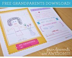 FREE Grandparents Day Printable Activity