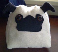 Pug Pillow by BebeKitties on Etsy, $20.00